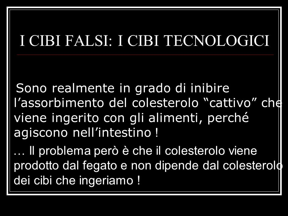 I CIBI FALSI: I CIBI TECNOLOGICI