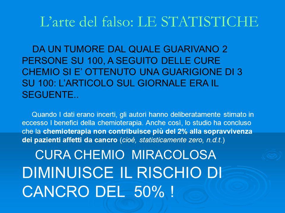 L'arte del falso: LE STATISTICHE