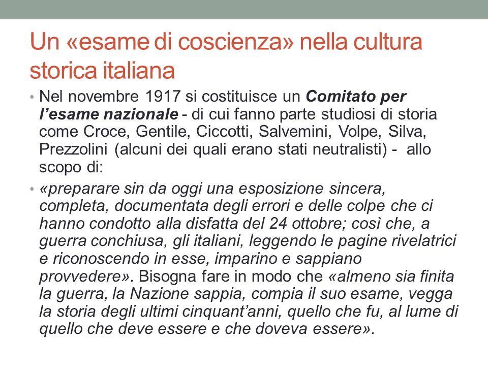 Un «esame di coscienza» nella cultura storica italiana