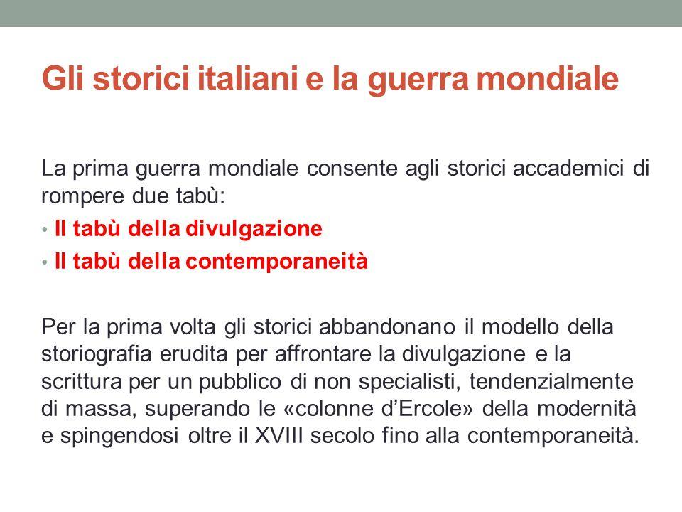 Gli storici italiani e la guerra mondiale