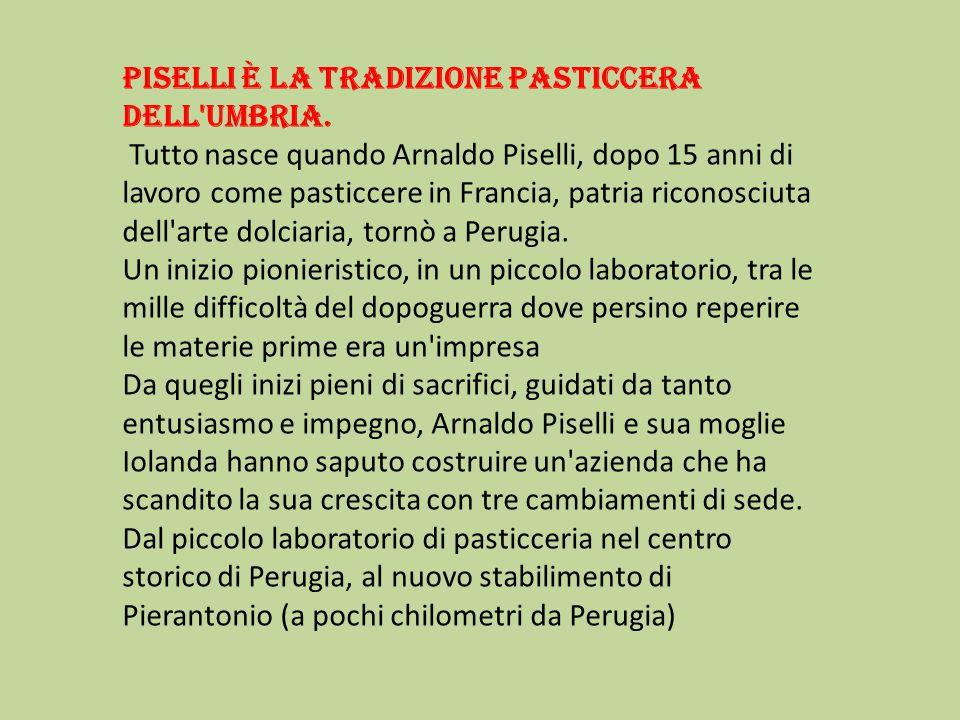 Piselli è la tradizione pasticcera dell Umbria.