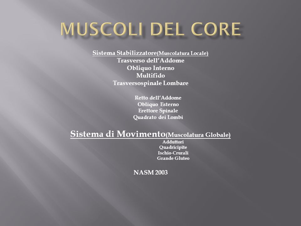 Core Stability Ppt Video Online Scaricare