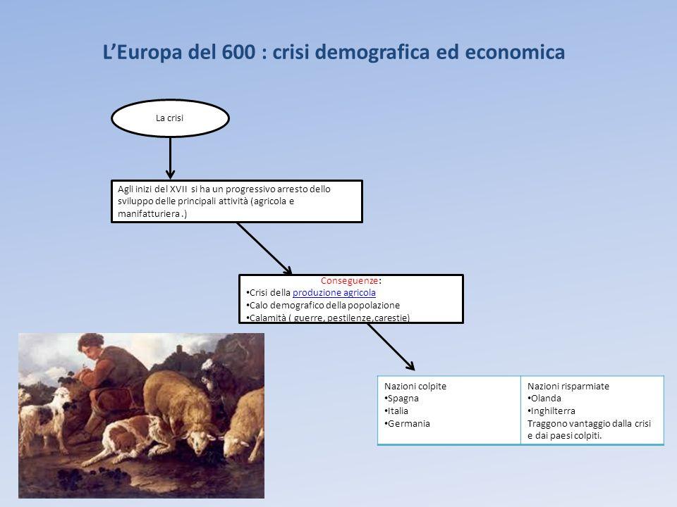 L'Europa del 600 : crisi demografica ed economica