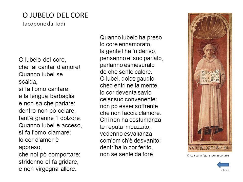 O JUBELO DEL CORE Jacopone da Todi O iubelo del core,