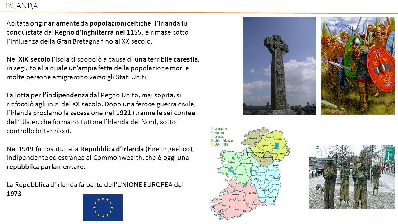 Abitata originariamente da popolazioni celtiche, l'Irlanda fu