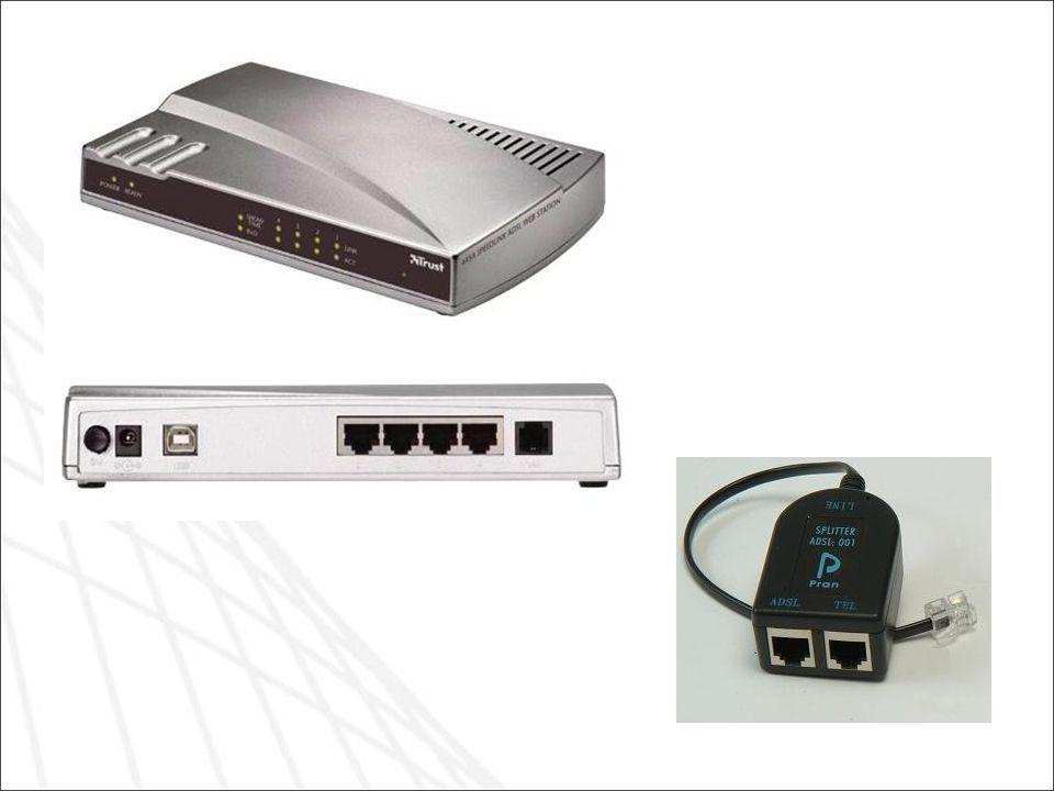 Esempi di router ADSL e del filtro