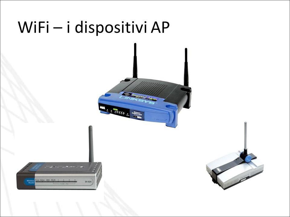WiFi – i dispositivi AP Esempi di Access Point ossia apparati di rete per il collegamento in WiFi
