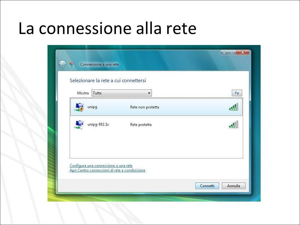 La connessione alla rete