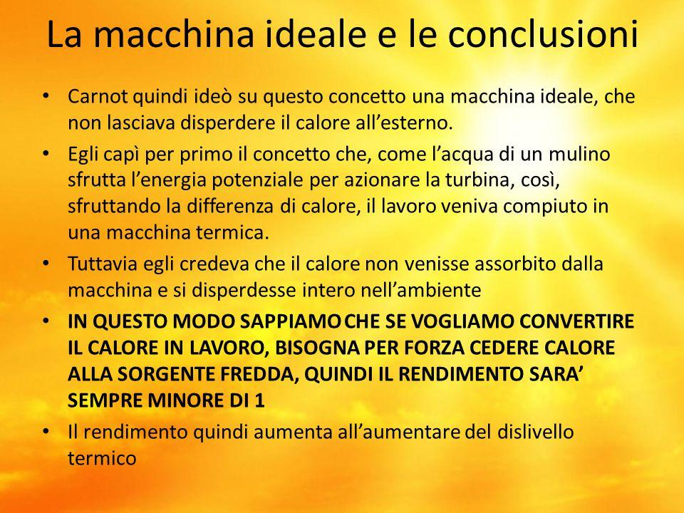 La macchina ideale e le conclusioni