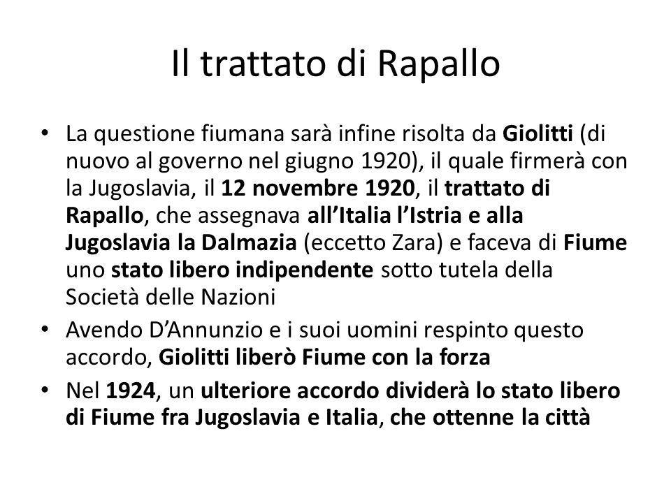 Il trattato di Rapallo