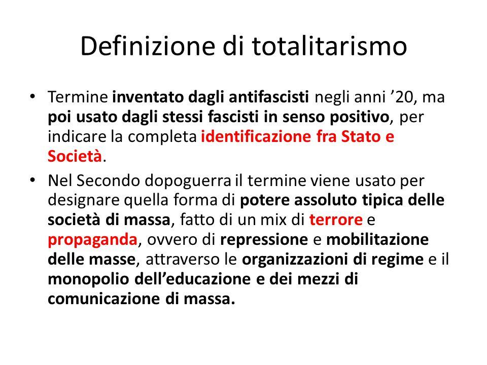 Definizione di totalitarismo