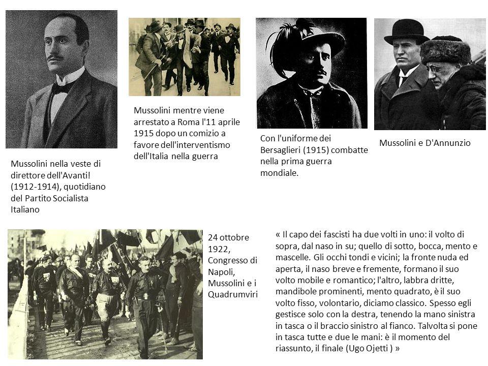 Mussolini mentre viene arrestato a Roma l 11 aprile 1915 dopo un comizio a favore dell interventismo dell Italia nella guerra