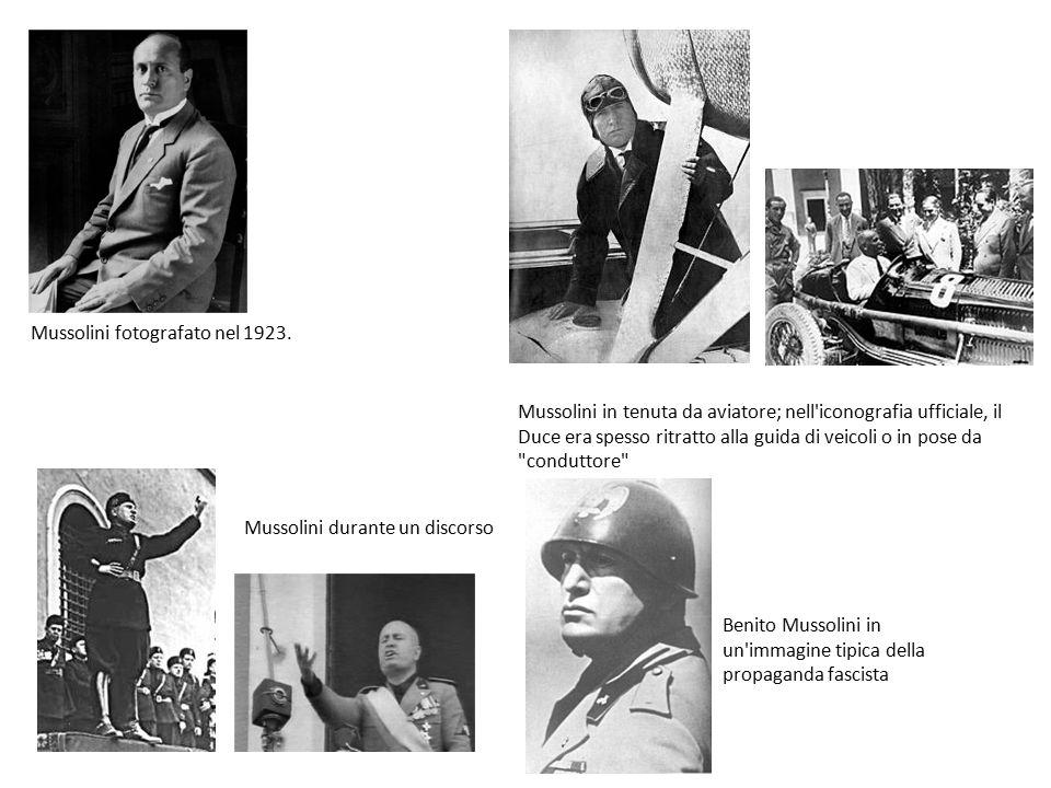 Mussolini fotografato nel 1923.