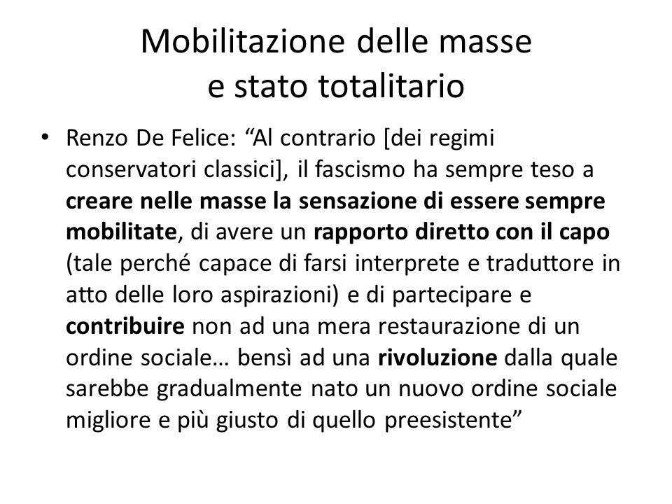 Mobilitazione delle masse e stato totalitario