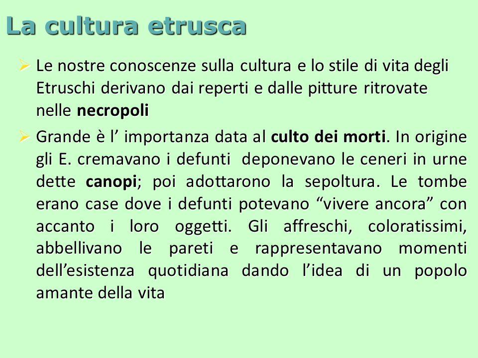 La cultura etrusca