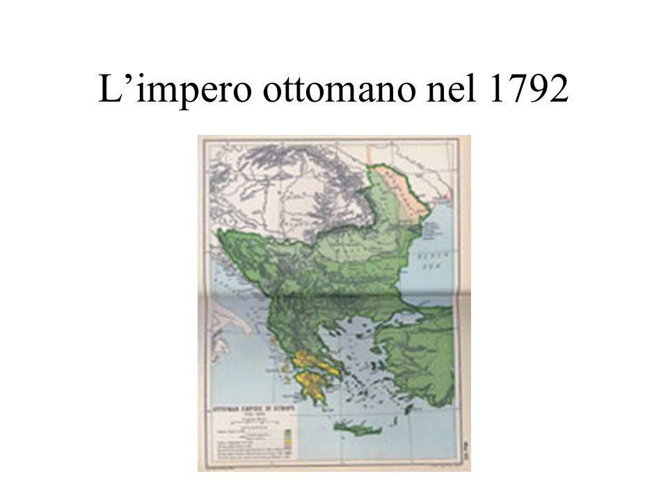 L'impero ottomano nel 1792