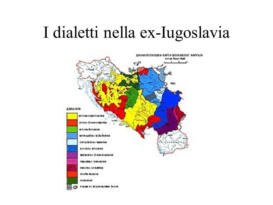 I dialetti nella ex-Iugoslavia