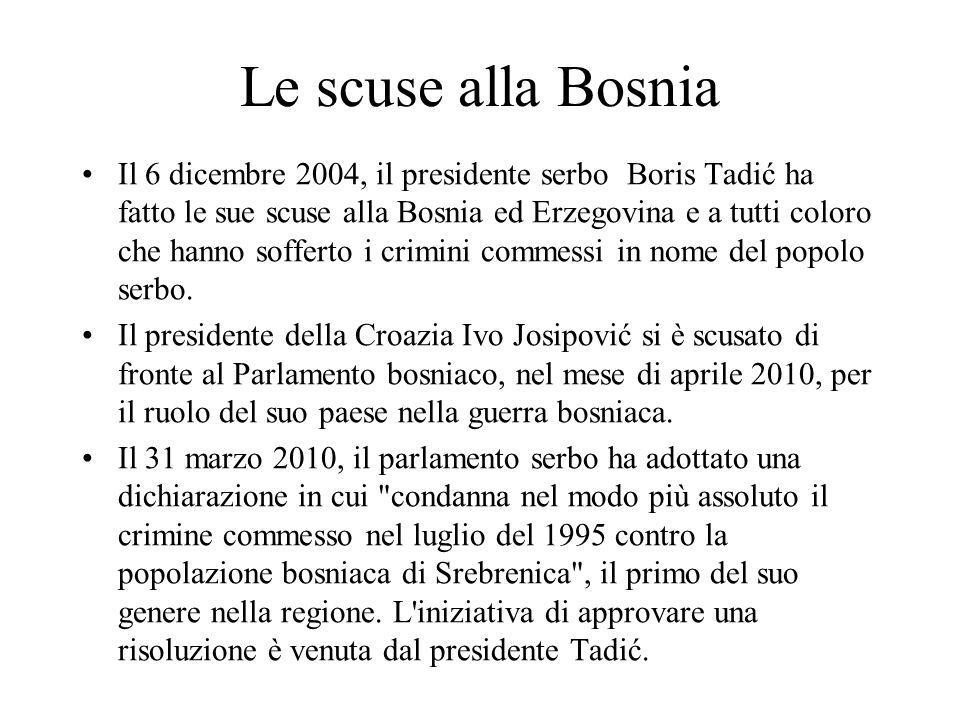Le scuse alla Bosnia