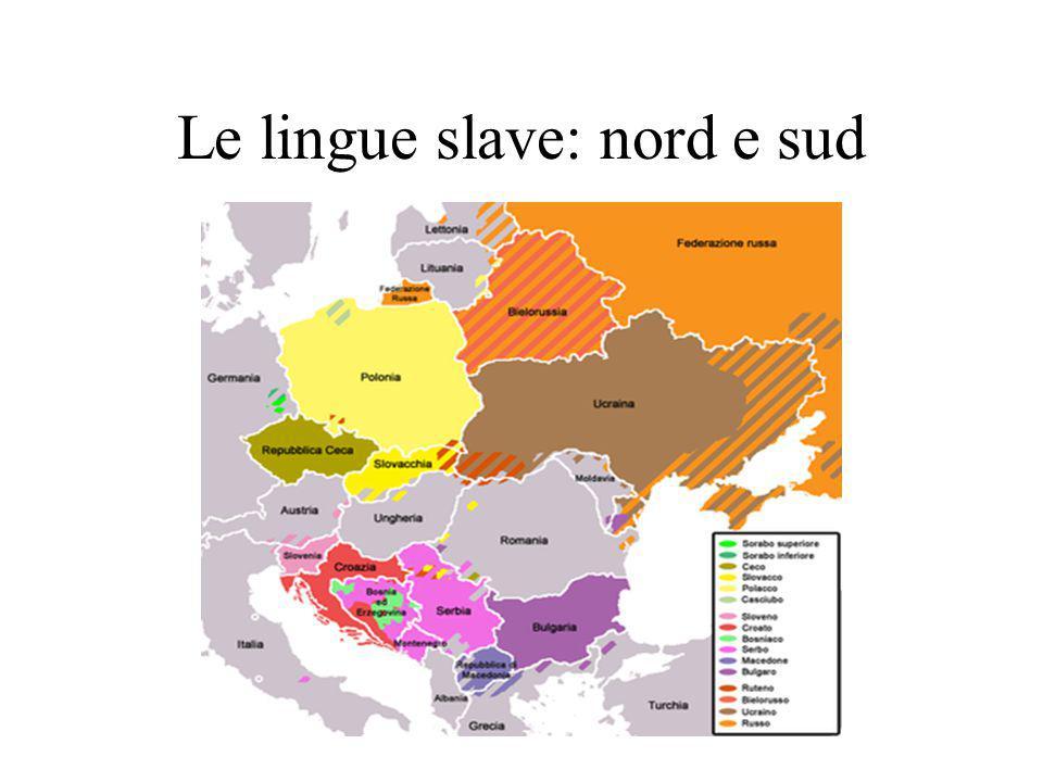 Le lingue slave: nord e sud