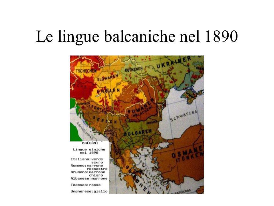 Le lingue balcaniche nel 1890