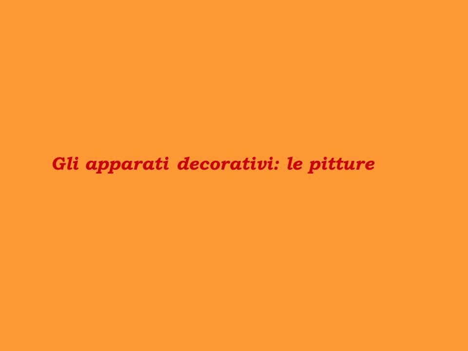 Gli apparati decorativi: le pitture