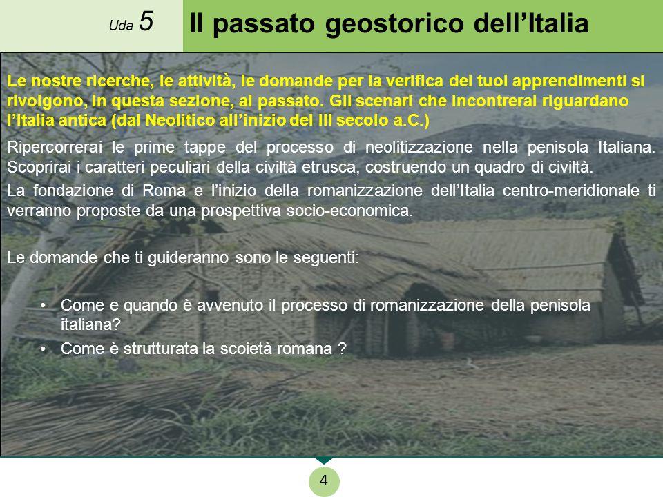 Il passato geostorico dell'Italia