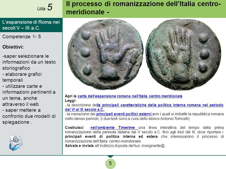 Il processo di romanizzazione dell'Italia centro-meridionale -