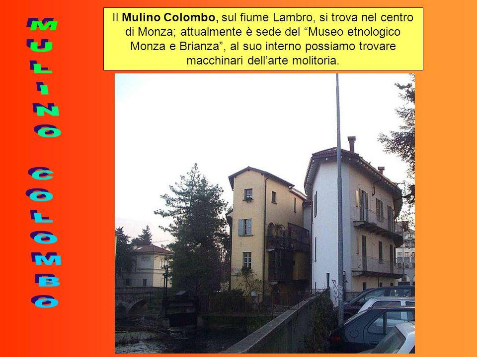 Il Mulino Colombo, sul fiume Lambro, si trova nel centro di Monza; attualmente è sede del Museo etnologico Monza e Brianza , al suo interno possiamo trovare macchinari dell'arte molitoria.