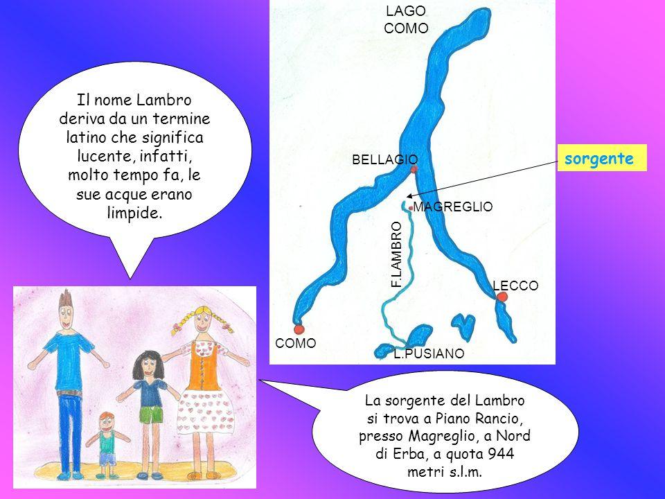 LAGO COMO Il nome Lambro deriva da un termine latino che significa lucente, infatti, molto tempo fa, le sue acque erano limpide.