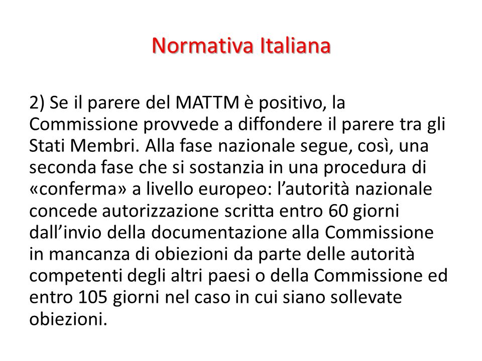 Normativa Italiana
