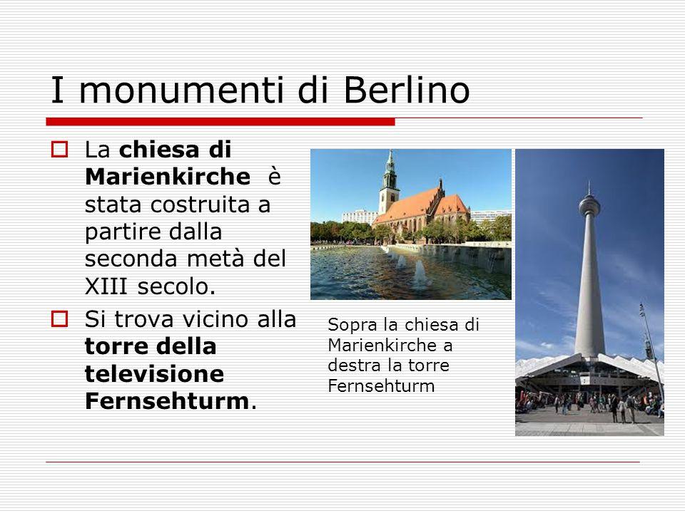 I monumenti di Berlino La chiesa di Marienkirche è stata costruita a partire dalla seconda metà del XIII secolo.