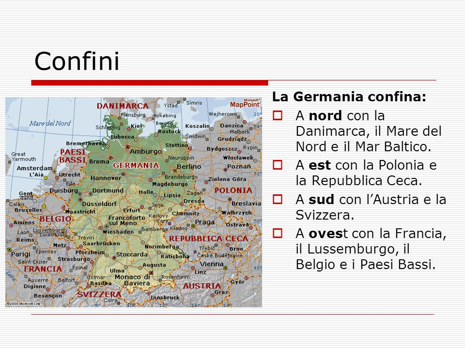 Confini La Germania confina: