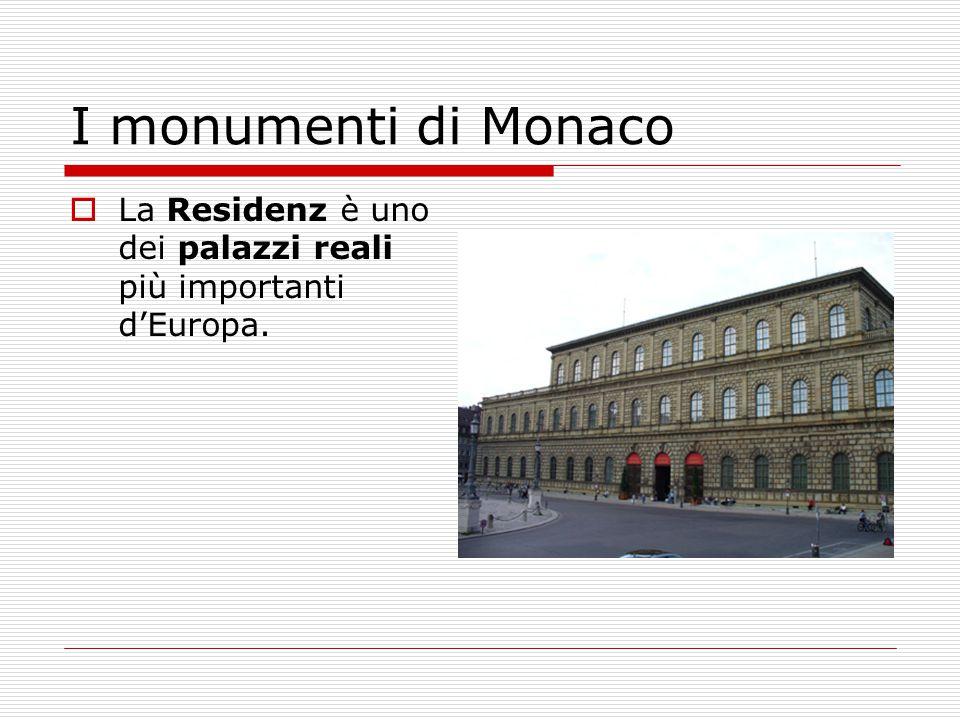 I monumenti di Monaco La Residenz è uno dei palazzi reali più importanti d'Europa.