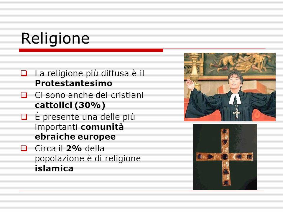 Religione La religione più diffusa è il Protestantesimo