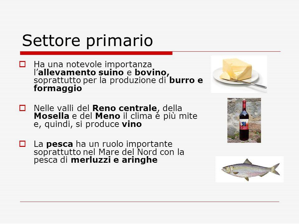 Settore primario Ha una notevole importanza l'allevamento suino e bovino, soprattutto per la produzione di burro e formaggio.