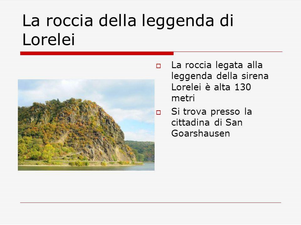 La roccia della leggenda di Lorelei