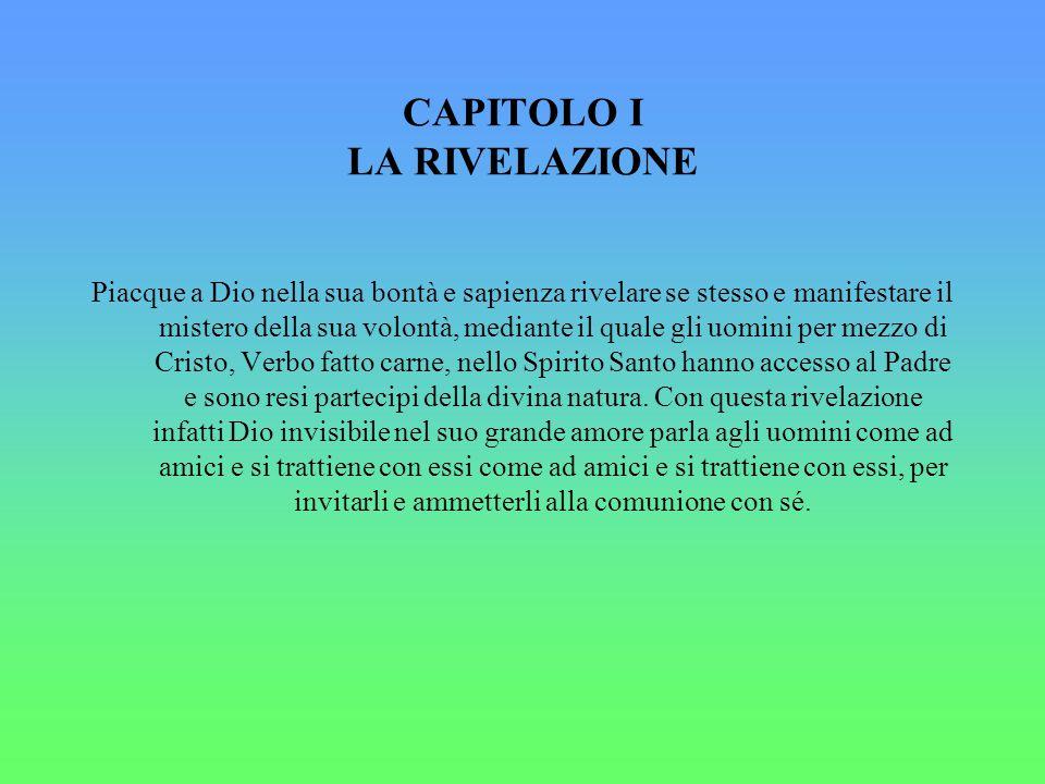 CAPITOLO I LA RIVELAZIONE