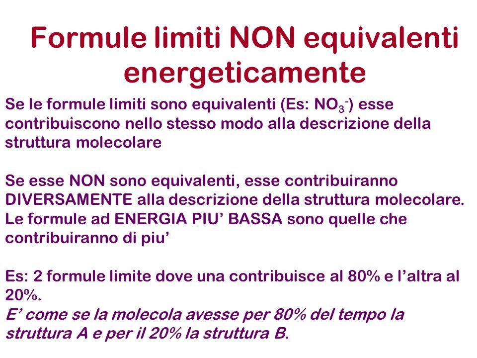 Formule limiti NON equivalenti energeticamente
