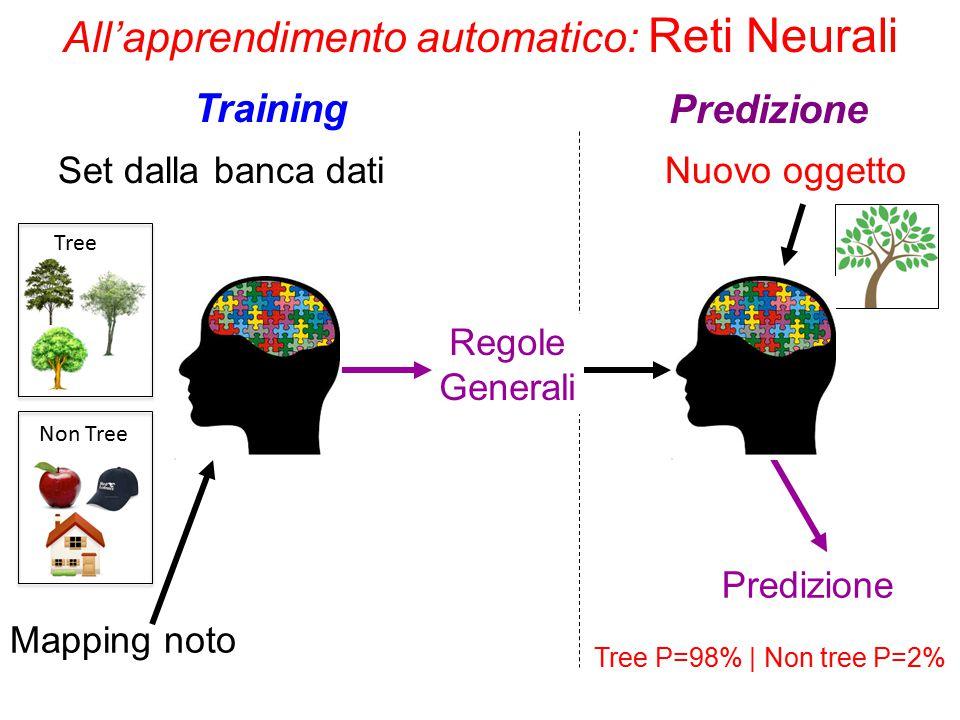 All'apprendimento automatico: Reti Neurali