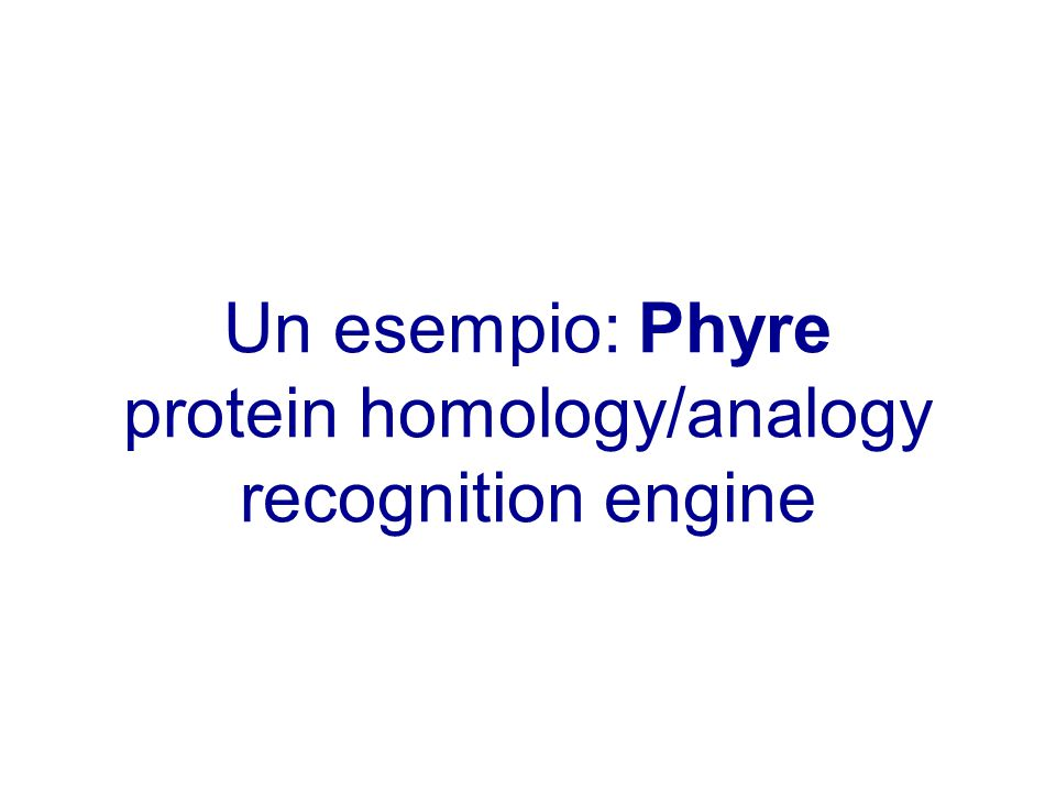 protein homology/analogy