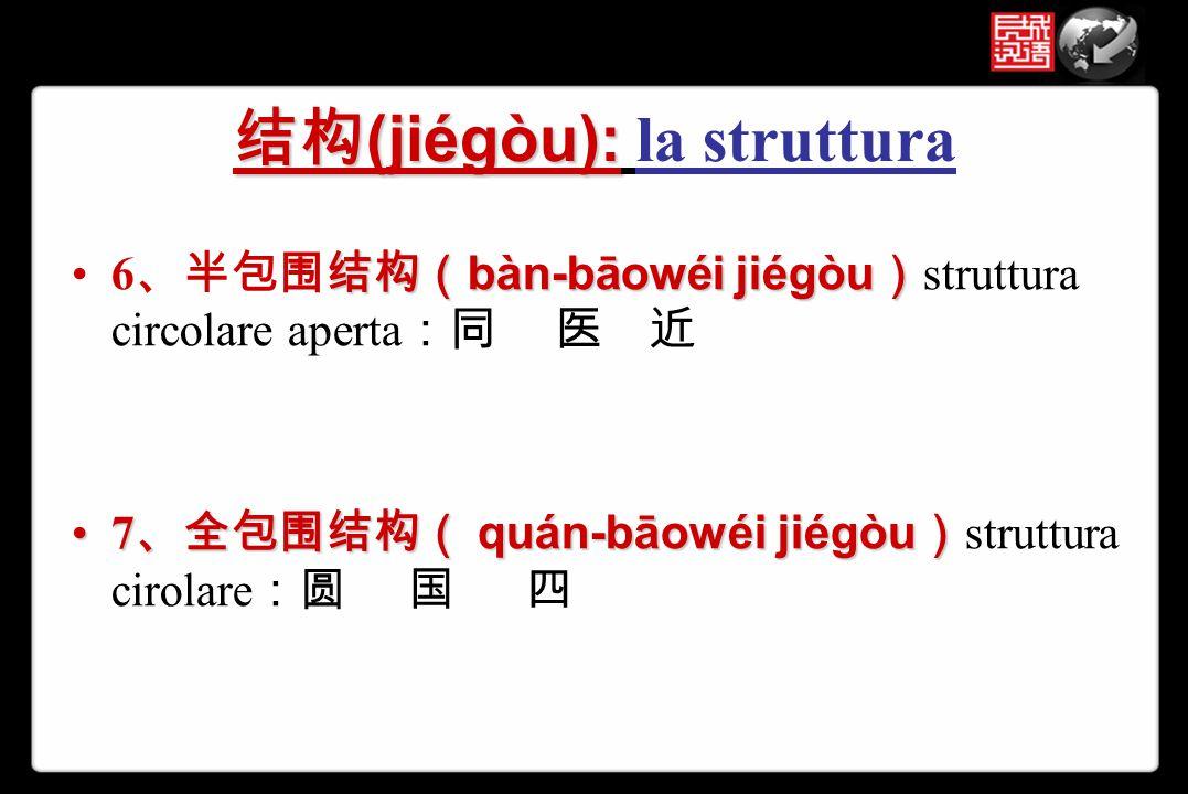 结构(jiégòu): la struttura