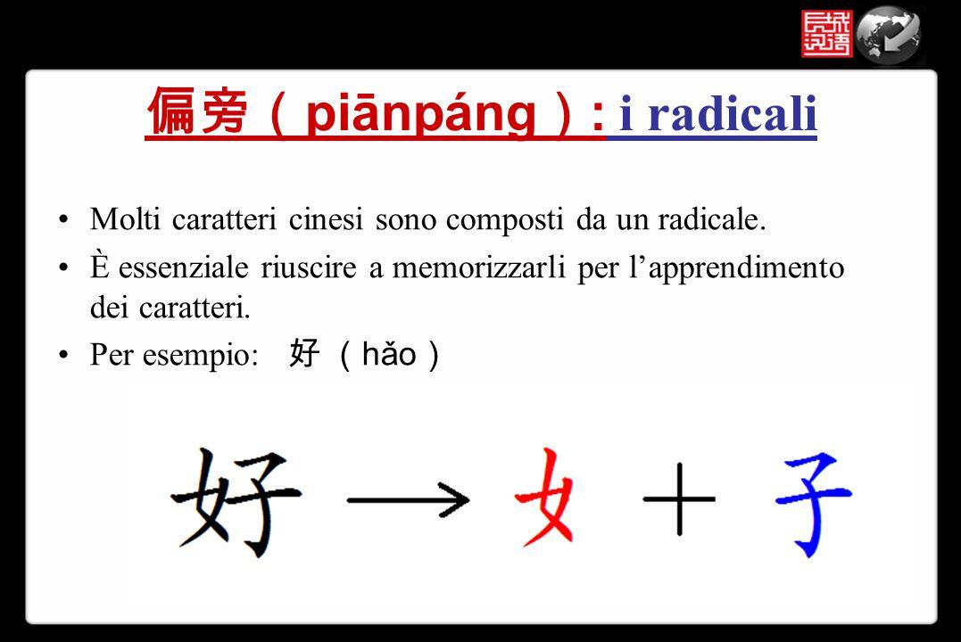 偏旁(piānpáng): i radicali