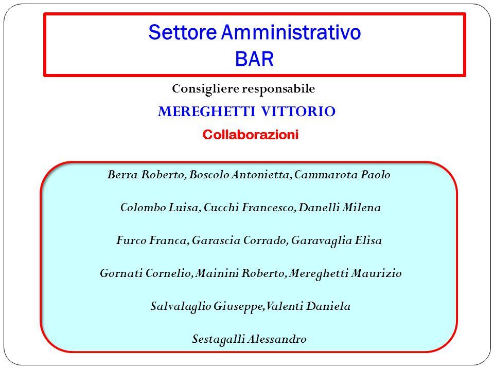 Settore Amministrativo BAR