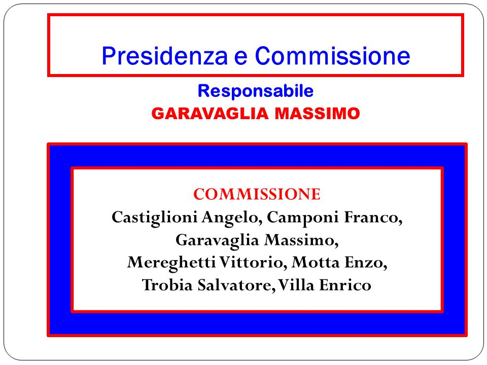 Presidenza e Commissione