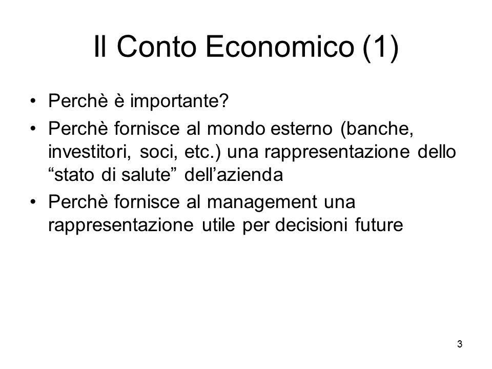 Il Conto Economico (1) Perchè è importante