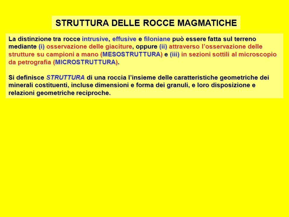 STRUTTURA DELLE ROCCE MAGMATICHE