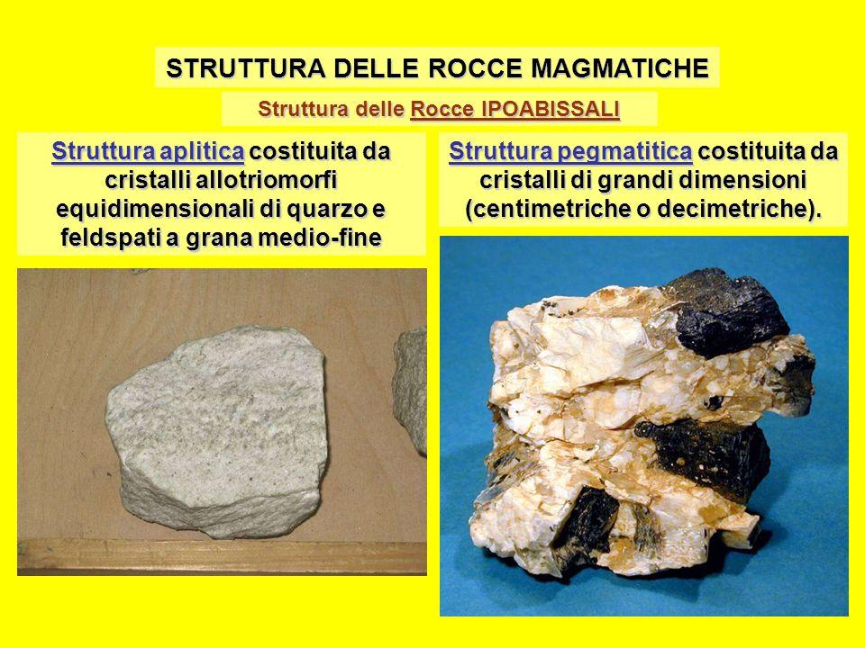 STRUTTURA DELLE ROCCE MAGMATICHE Struttura delle Rocce IPOABISSALI