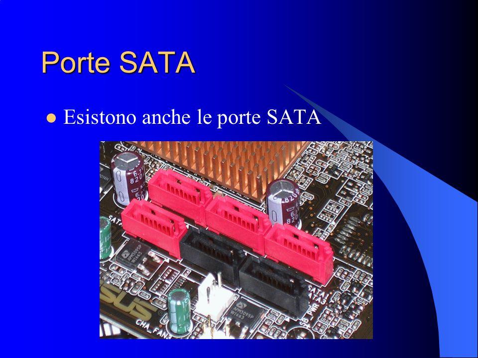Porte SATA Esistono anche le porte SATA