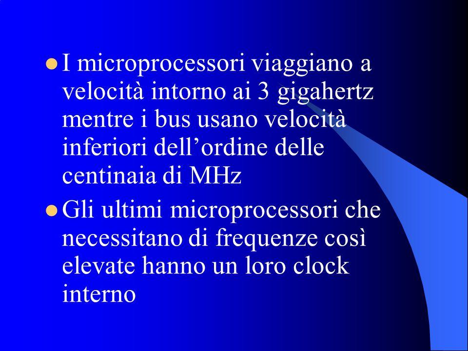 I microprocessori viaggiano a velocità intorno ai 3 gigahertz mentre i bus usano velocità inferiori dell'ordine delle centinaia di MHz