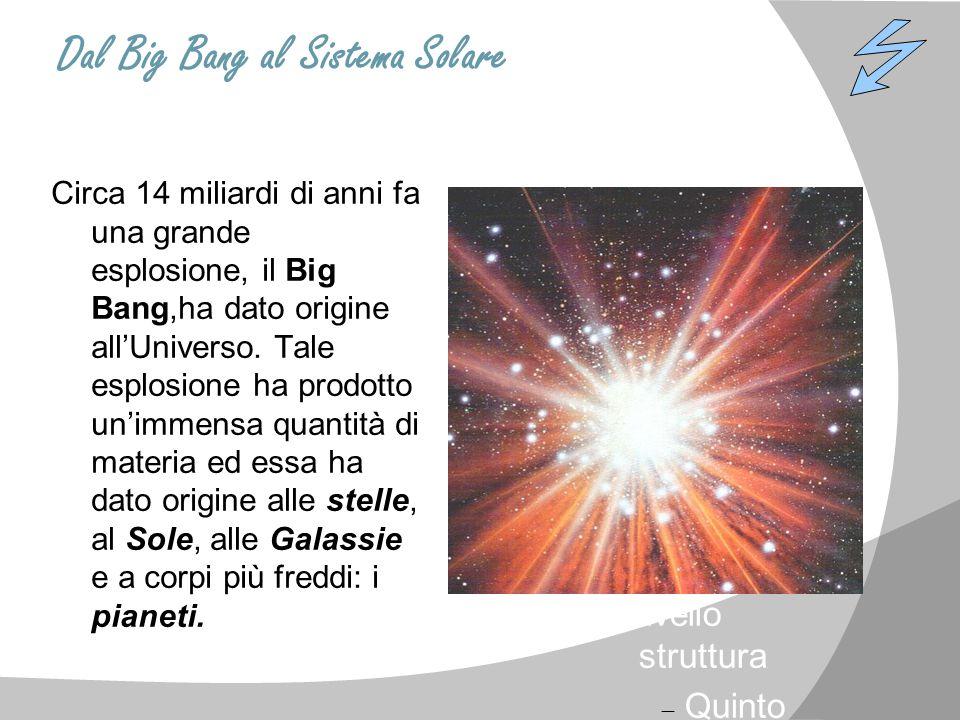 Dal Big Bang al Sistema Solare